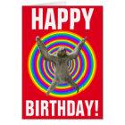 Magical Rainbow Sloth Birthday Card