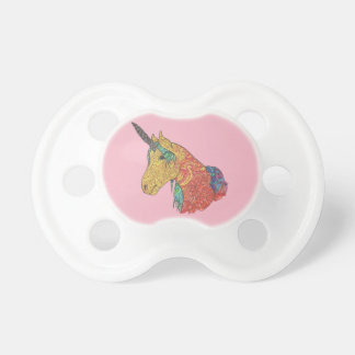 Magical rainbow unicorn baby pacifiers