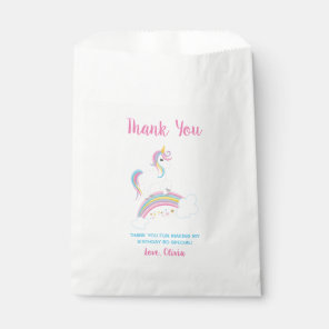Magical Rainbow Unicorn Birthday Favour Bags