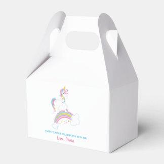 Magical Rainbow Unicorn Birthday Favour Box