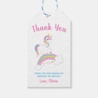 Magical Rainbow Unicorn Birthday Gift Tags