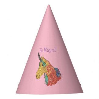 Magical rainbow unicorn party hat