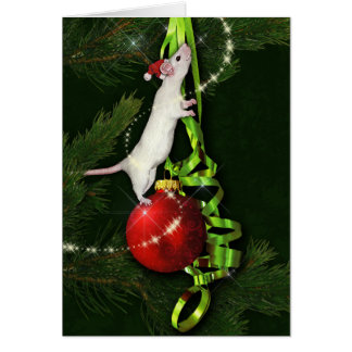 Magical Rat Holiday Greeting Greeting Card
