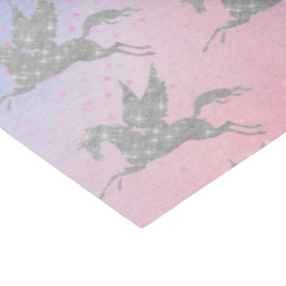 Magical silver unicorn tiled party tissue paper