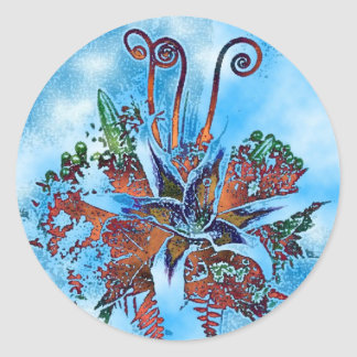 Magical Star Gazer Lily Stickers