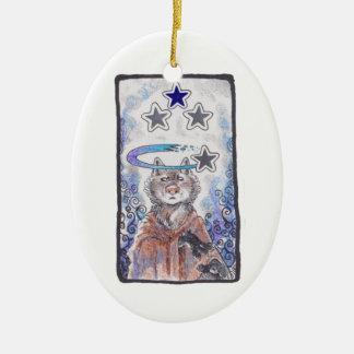Magical Star Wolf Christmas Ornament