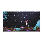 """Magical Stars Sky Art """"Making Wishes"""" Medium Gallery Wrapped Canvas"""