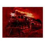 Magical Steam Engine Victorian Train Post Cards