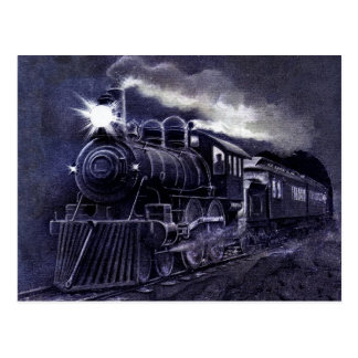 Magical Steam Engine Victorian Train Postcard