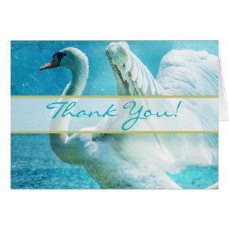 Magical Swan Wedding Thank You Cards