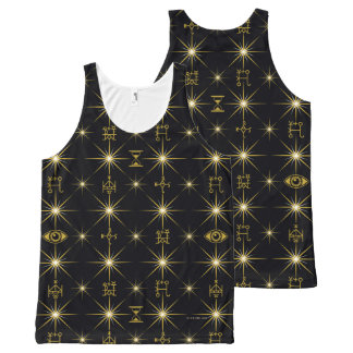 Magical Symbols Pattern All-Over Print Tank Top