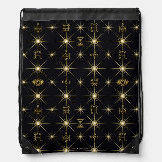 Magical Symbols Pattern Drawstring Bag