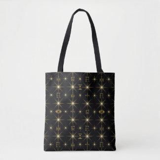 Magical Symbols Pattern Tote Bag