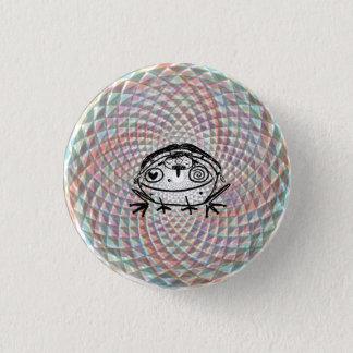magical toad medicine ride 3 cm round badge