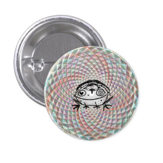 magical toad medicine ride 3 cm round badge