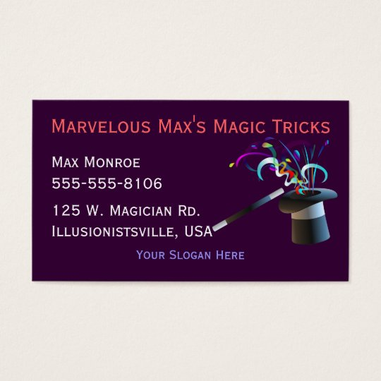 Magical Top Hat Business Cards