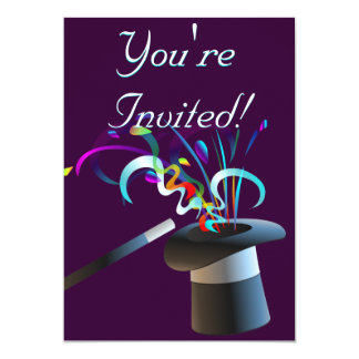 Magical Top Hat Invitation