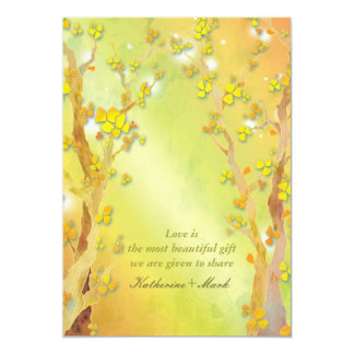 Magical Tree Gate Indie Outdoor Wedding Card