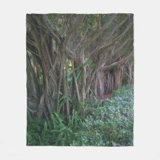 Magical Trees Design Fleece Blanket