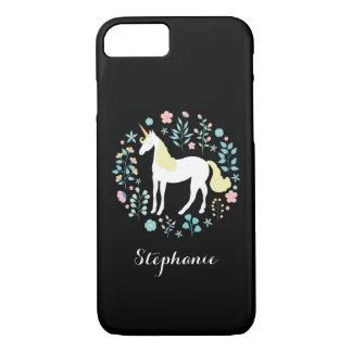 Magical Unicorn Black Personalized iPhone 8/7 Case