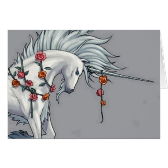 Magical Unicorn Blank Greetings Card