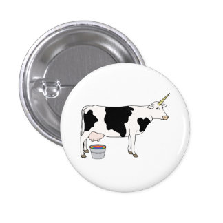 Magical Unicorn Dairy Milk Cow 3 Cm Round Badge
