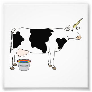 Magical Unicorn Dairy Milk Cow Photo Print