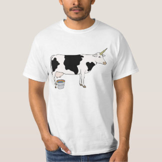 Magical Unicorn Dairy Milk Cow T-Shirt