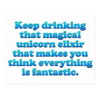 Magical Unicorn Elixir Postcard