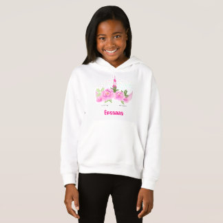 Magical unicorn Fantasy sprinkles add name hoodie