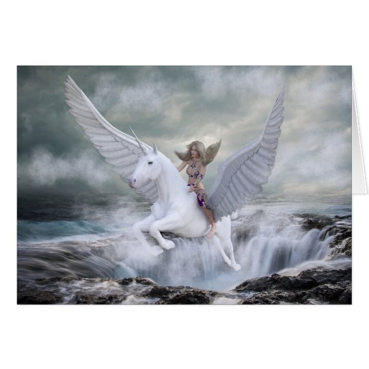 Magical Unicorn Flying out of the Ocean Blank