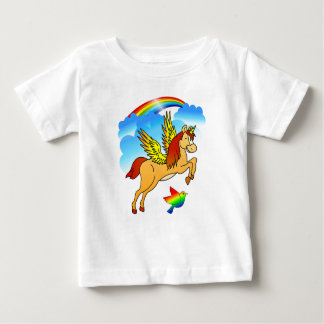 Magical Unicorn Flying Through The Air Baby T-Shirt