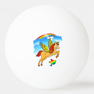 Magical Unicorn Flying Through The Air Ping Pong Ball
