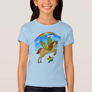 Magical Unicorn Flying Through The Air T-Shirt