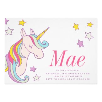 MAGICAL UNICORN KIDS BIRTHDAY INVITATION