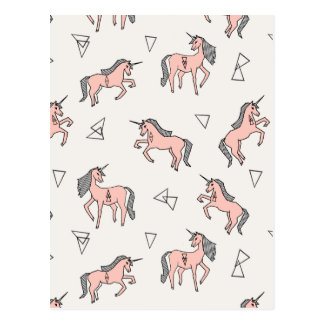 Magical Unicorn Love - Pale Pink / Andrea Lauren Postcard