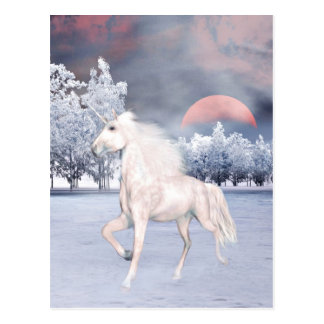 Magical unicorn morning postcard