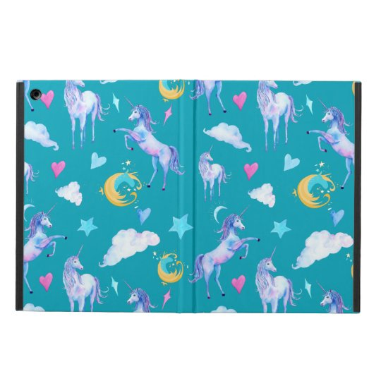 Magical Unicorn Pattern Watercolor Fantasy Design iPad Air