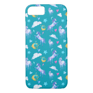 Magical Unicorn Pattern Watercolor Fantasy Design iPhone 8/7 Case