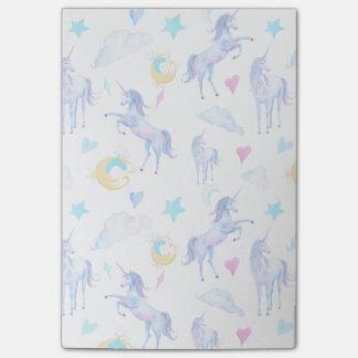 Magical Unicorn Pattern Watercolor Fantasy Design Post-it Notes