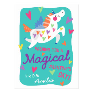 Magical Unicorn | Postcard Size Valentine