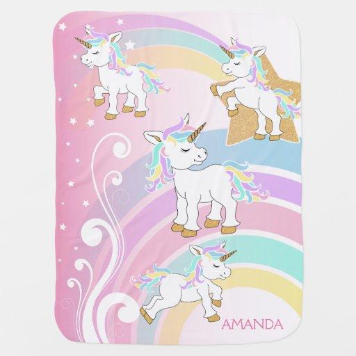 Magical Unicorn Rainbow Baby Blanket