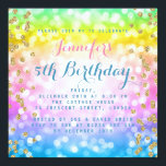 Magical Unicorn Rainbow Baby Kids Birthday Party Invitationbrdiv Class