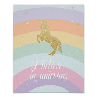 MAGICAL UNICORN RAINBOW POSTER