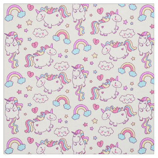 Magical Unicorn Rainbow Star & Cloud Fabric