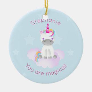 Magical Unicorn Round Ceramic Decoration