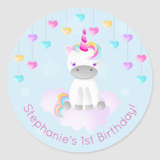 Magical Unicorn Round Sticker