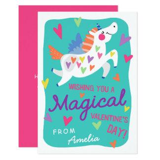 Magical Unicorn Valentine's Day Card 9 Cm X 13 Cm Invitation Card