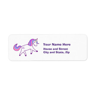 Magical Unicorn with Pink, Purple, and Blue Mane
