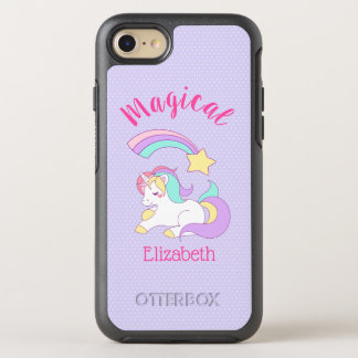 Magical Unicorn with Rainbow Shooting Star OtterBox Symmetry iPhone 8/7 Case